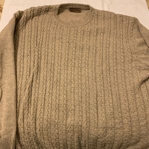 Cable knit crew sweater -3XL